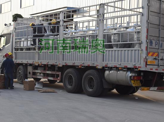 南昌生物质热风炉装车