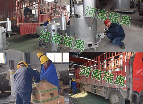 广东丰顺取暖生物质热风炉发货现场