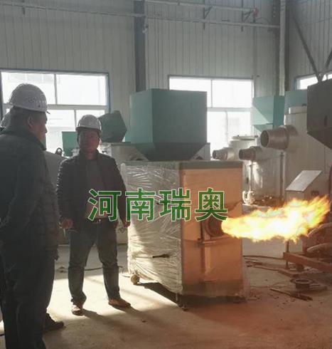 山东招远粉丝厂业主考察我司生物质燃烧设备